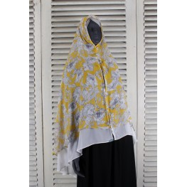 Khimar floral yellow